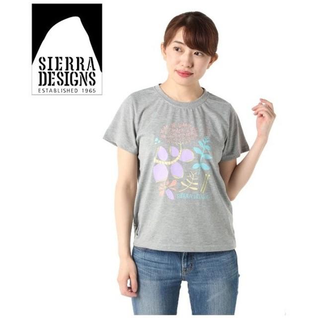 シェラデザインズ SIERRA DESIGNS Tシャツ 半袖 レディース フラワーデザイン 防蚊 20933290 HGY