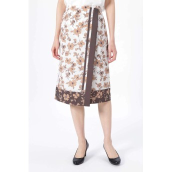 NATURAL BEAUTY スカーフエッジフラワースカート