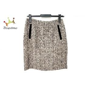 マルティニーク martinique スカート サイズ1 S レディース ベージュ×黒×マルチ ツイード/ラメ   スペシャル特価 20190825