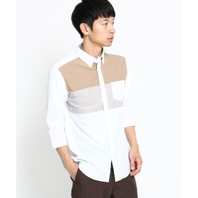 THE SHOP TK(Men)(ザ ショップ ティーケー(メンズ)) オックスフォード切替7分袖シャツ