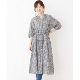 3can4on(Ladies)(サンカンシオン(レディース)) 【洗える】ビッグシャツワンピース