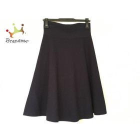 ジユウク 自由区/jiyuku スカート サイズ38 M レディース 美品 ダークネイビー ニット 新着 20190607