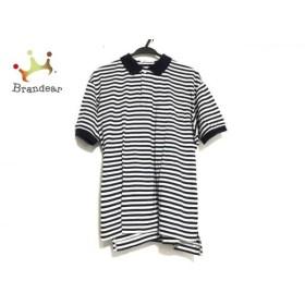 ファソナブル Faconnable 半袖ポロシャツ サイズL メンズ 美品 ネイビー×白 ボーダー 新着 20190607