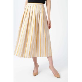 NATURAL BEAUTY ◆ランダムストライプスカート ひざ丈スカート,ベージュ