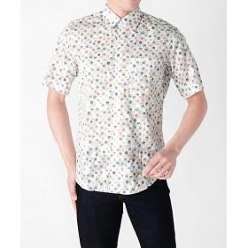 【SALE(伊勢丹)】<アルファー/ALPHA> 半袖カジュアルシャツ(668253) 001ホワイト 【三越・伊勢丹/公式】