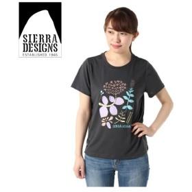 シェラデザインズ SIERRA DESIGNS Tシャツ 半袖 レディース フラワーデザイン 防蚊 20933290 CHACOAL