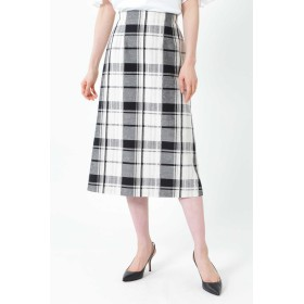 NATURAL BEAUTY ◆[WEB限定商品]ビッグチェックロングタイトスカート ひざ丈スカート,ホワイト
