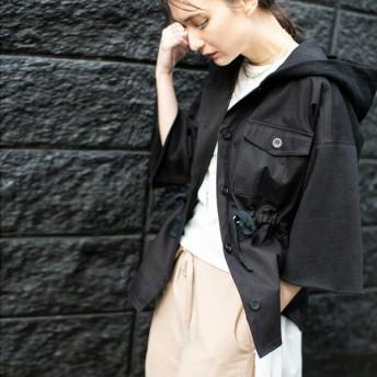 [マルイ]【セール】裏毛切替フーデッドシャツブルゾン/オズモーシス(OSMOSIS)