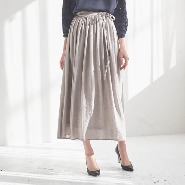 ロングスカート レディース 大きいサイズ 40代 30代 春 スカート マキシ丈 おしゃれ きれいめ エレガント グレージュ 4L 5L 6L