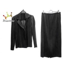 プリーツプリーズ PLEATS PLEASE スカートスーツ サイズ3 L レディース 黒 ベロア/プリーツ    値下げ 20190729