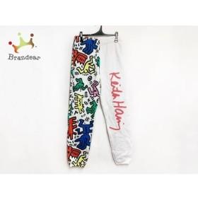 ジョイリッチ JOYRICH パンツ サイズL メンズ 美品 白×マルチ ×Keith Haring 新着 20190801