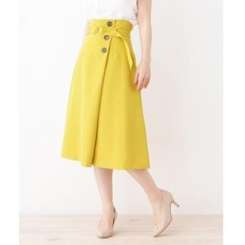 grove / グローブ ヴィンテージボタン ラップ風スカート