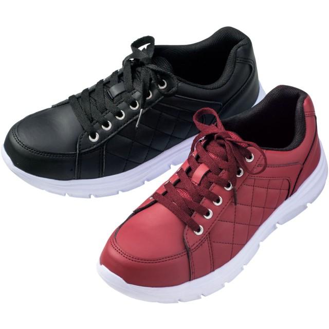【格安-女性靴】3E樹脂プロテクター付カジュアルワークシューズ