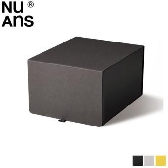 NuAns ニュアンス 収納ボックス ケース フタ付き 布 FLIPBOX STORAGE CASE ブラック ホワイト イエロー 黒 白 NA-FLB