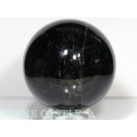 ☆置石一点物☆【天然石 置き石】丸玉 モリオン(天然黒水晶) (2A) (約110mm) No.12
