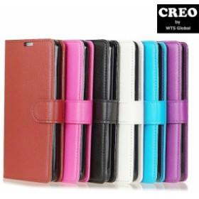 CREO パステル フルレザー スマホケース SONY Xperia 1 SO-03L SOV40 手帳型 カード収納 スタンド機能 軽量