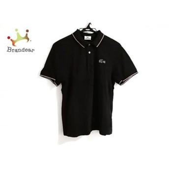 ラコステ Lacoste 半袖ポロシャツ サイズ4 XL メンズ 黒×白×レッド スペシャル特価 20190828