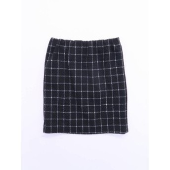 GRL(グレイル)ブロックチェックタイトスカート 黒 レディース 新品 M