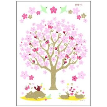 ハウスジーダ ウォールステッカー 桜咲く CWS-414