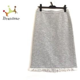 セオリーリュクス theory luxe スカート サイズ40 M レディース 白×黒 ツイード 新着 20190607