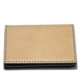 名刺入れ・カードケース-レザー [グレージング サドル ヌメ 10色より]・受注制作・