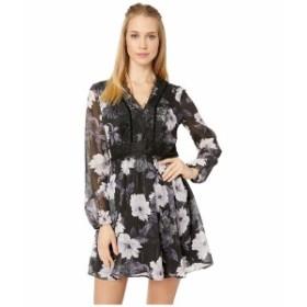 カップケーキアンドカシミア レディース ワンピース トップス Joaline Lace Detailed Print Dress Black