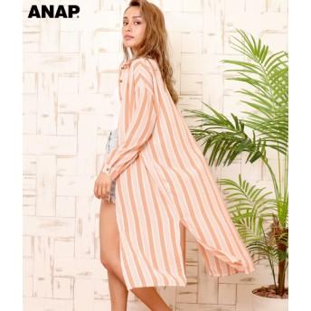 【セール開催中】ANAP(アナップ)ストライプロングシャツ
