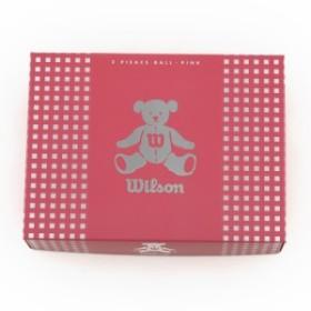 ウイルソンゴルフ ゴルフボール BEAR3 (レディース) ピンク 1ダース(12個入) (Lady's)