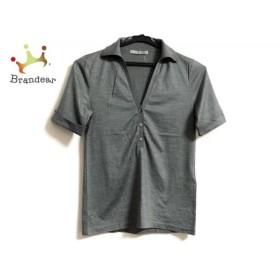 セオリーリュクス theory luxe 半袖ポロシャツ サイズ38 M レディース 美品 グレー 新着 20190607