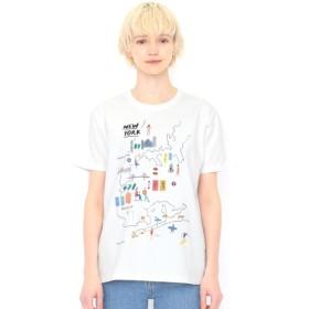 [マルイ] 【ユニセックス】Tシャツ/ニューヨーク(ローラユンガー)/グラニフ(graniph)