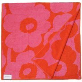 Marimekko マリメッコ ブランケット バスタオル 63629-330 ウニッコ 150cm×75cm レッド×ピンク 新品