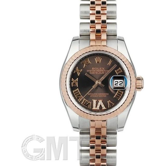 innovative design ccd0a 74031 ロレックス デイトジャスト 179171 ブラウンローマVIダイヤ ...