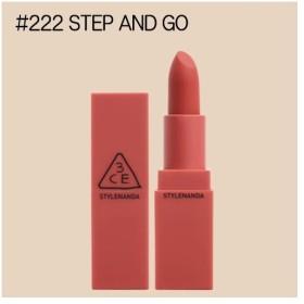 【3CE】(スリーコンセプトアイズ) ムードレシピマットリップカラー #222 STEP AND GO(3.5g) ※国内発送
