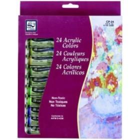 Acrylic Paints 12ml 24/Pkg-Assorted Colors (並行輸入品)
