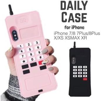 スマホ 背面 ケース シリコン 携帯 3D 携帯電話 おもしろ iPhone7/8 iPhone7/8plus iPhoneX/XS XR XSMAX 全2種 ブラック ピンク