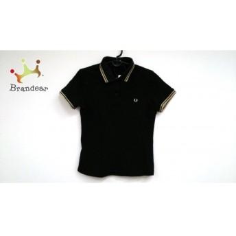 フレッドペリー FRED PERRY 半袖ポロシャツ レディース 美品 黒×ゴールド 値下げ 20190903