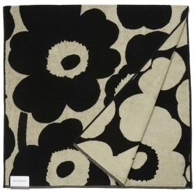 Marimekko マリメッコ ブランケット バスタオル 63629-980 ウニッコ 150cm×75cm ベージュ×ブラック 新品