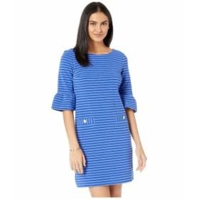 リリーピュリッツァー レディース ワンピース トップス Alden Dress Blue Grotto Ottoman Stripe