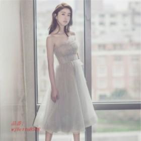 パーティードレス パーティドレス 結婚式 20 ワンピース ミディアムドレス 30 ドレス 花嫁 お呼ばれドレス 二次会ドレス ウエディングド