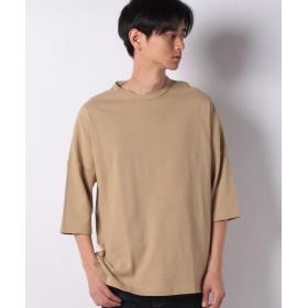 スペンディーズストア DISCUSドロップショルダーTシャツ(ワイドシルエット/ビッグシルエット) メンズ ベージュ M 【SPENDY'S Store】
