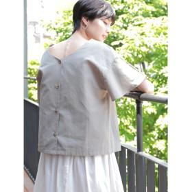 【オンワード】 koe(コエ) ・2WAY綿麻袖フレアブラウス Khaki F レディース 【送料無料】