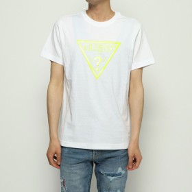 Tシャツ - GUESS【MEN】 [GUESS] NEON TRIANGLE LOGO TEE