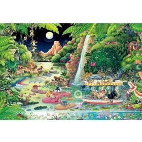 61-407 ジグゾーパズル ジャングルナイトクルーズ 1000ピース