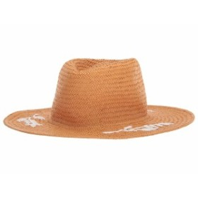 20d42742 ラッキーブランド レディース 帽子 アクセサリー Floral Embroidered Straw Hat Natural