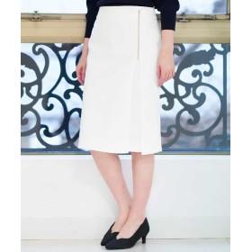 【20%OFF】 オフオン ジップタイトスカート レディース ホワイト L 【OFUON】 【セール開催中】