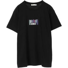 【オンワード】 SEVENDAYS=SUNDAY(セブンデイズ サンデイ) ・レインボープリントTシャツ Black M メンズ 【送料無料】