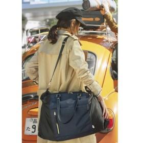 FELISSIMO フェリシモ サブバッグいらず荷物に合わせてサイズが変わるサイドロールバッグ