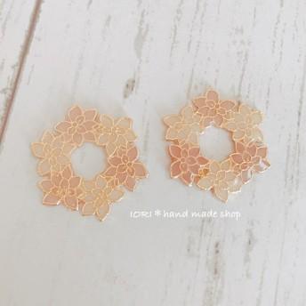 Flowerリース*pierce