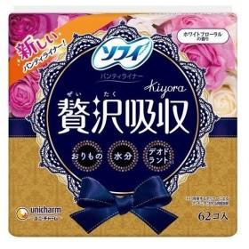 ソフィ Kiyora 贅沢吸収 ホワイトフローラル 62枚