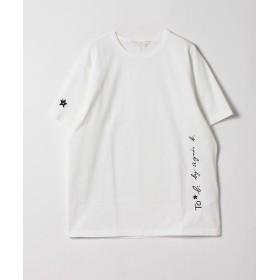 アニエスベー WL84 TS ロゴビッグシルエットTシャツ レディース ホワイト 38(M) 【agnes b.】